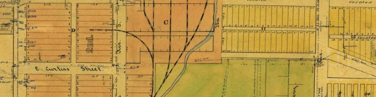 Historic Map Image of Downtown Bozeman