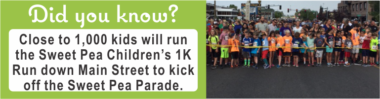 Close to 1,000 kids will run the Sweet Pea Children's 1K Run