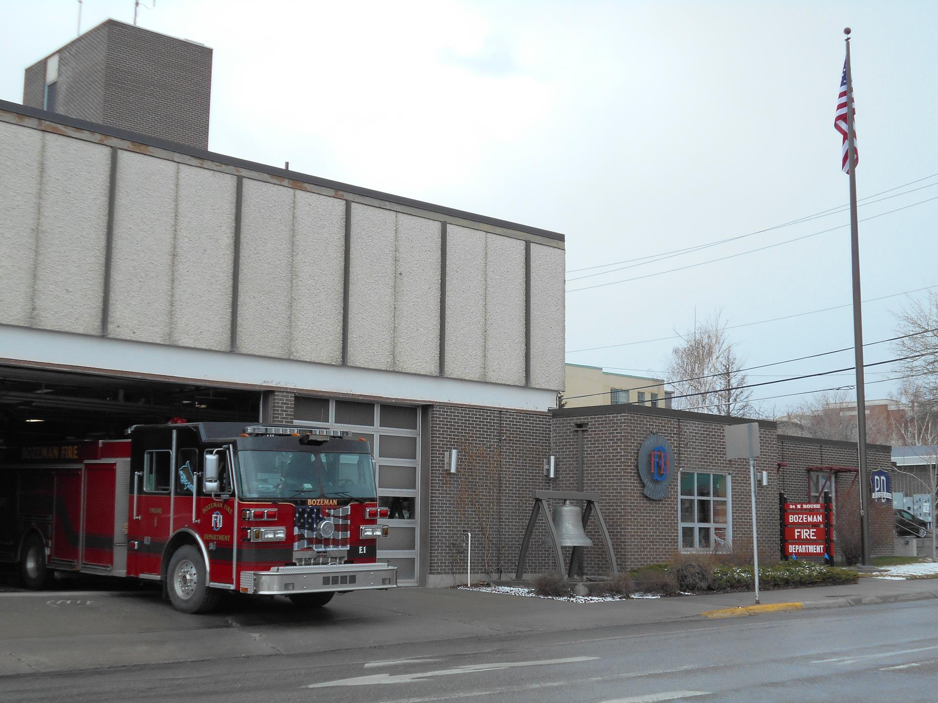Fire Station 1 full image with engine