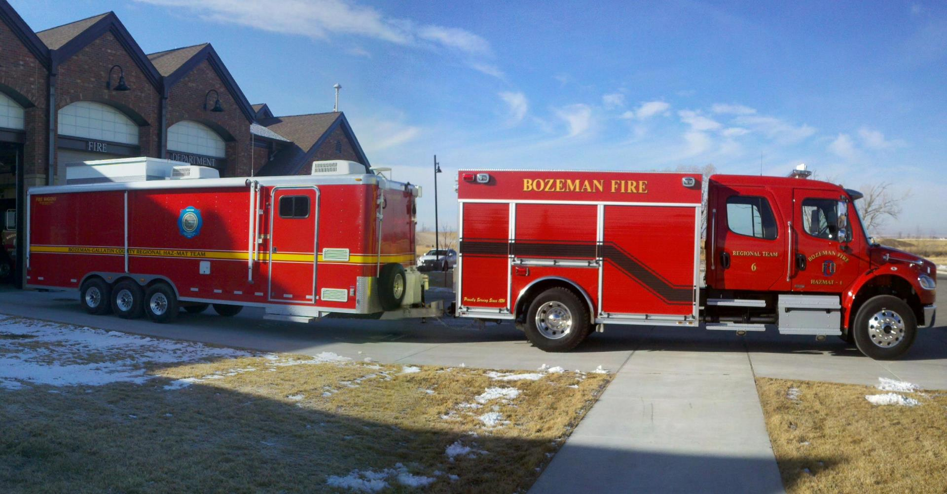 Pictured below is the Bozeman Fire Team 6 Haz Mat 1 and Response Trailer.