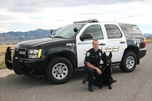 Officer Tracy Senenfelder and dog Kuno