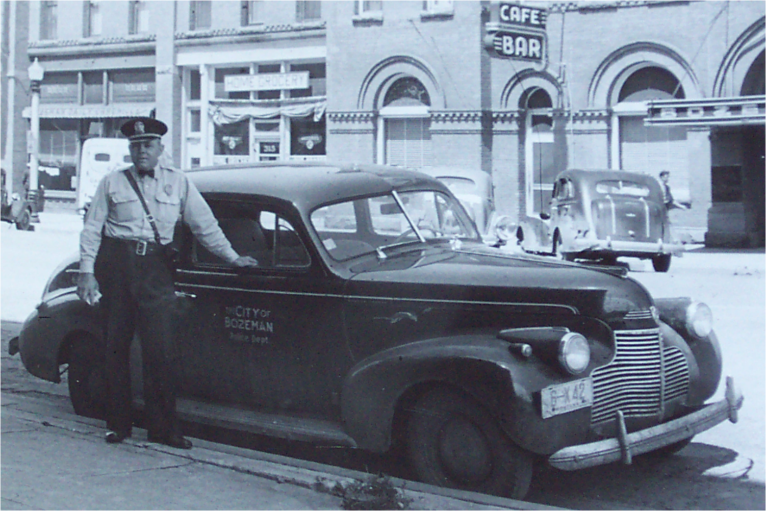 1940s Bozeman Police patrol vehicle